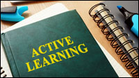 A printed book, with its title Active Learning clearly printed on the cover.