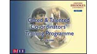The CD cover of the National Training Programme for Gifted and Talented Coordinators