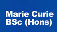 The cover of learning materials for the Marie Curie BSc (Hons)
